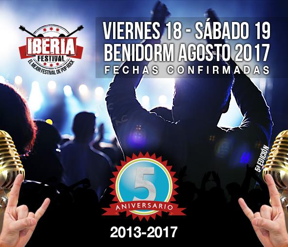 Confirmación fechas Iberia Festival 2017