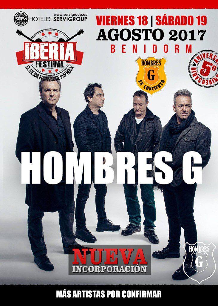 Hombres G confirmados Iberia 2017