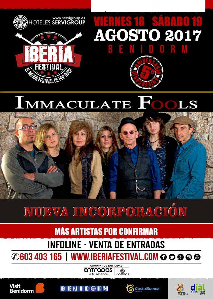 Cartel Iberia Festival Inmaculate Fools
