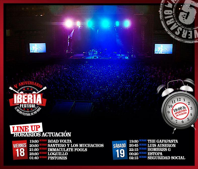 Horario actuaciones Iberia Festival 2017